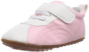 Jack & Lily Sporty pink - Zapatos primeros pasos de piel para niña