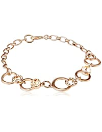 Covo Swarovski Gold Champagne Gold Plated Charm Bracelet For Women (Gold Champagne) (CSJBRLGCH10)