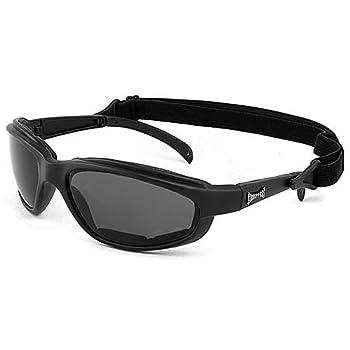 Choppers Masque et Lunettes de Soleil - Multisports - Vtt - Ski - Moto - Voile - Conduite - Moto / Mod. Stunt Noir / Taille Unique Adulte / Protection 100% UV400