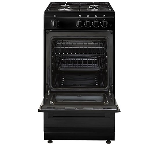 New World Ltd 50GSOB 500mm Single Gas Cooker 4 x Burner Gas Hob Black