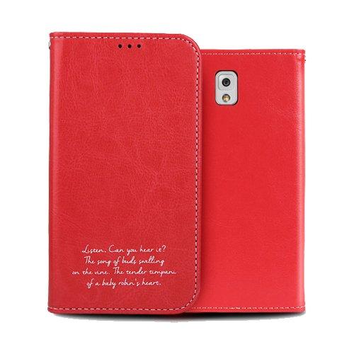Galaxy S4 ケース Airlink Flip Case ギャラクシー S4 手帳型 フリップ ケース レッド(Red) / SC-04E 携帯 スマホ スマートフォン モバイル ケース カバー ダイアリー カード 収納 ポケット スロット