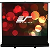 Elite Screens EzCinema Plus Series, 74-inch Diagonal 16:9, Floor Pull Up Portable Projection Screen, Model: F74XWH1