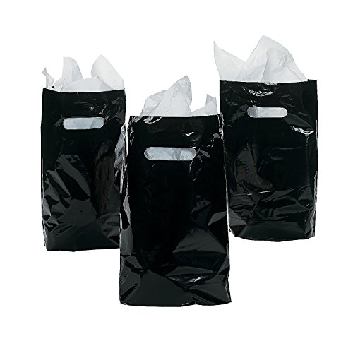 "8.75"" x 12"" Black Treat / Goody Bag (package of 50)"