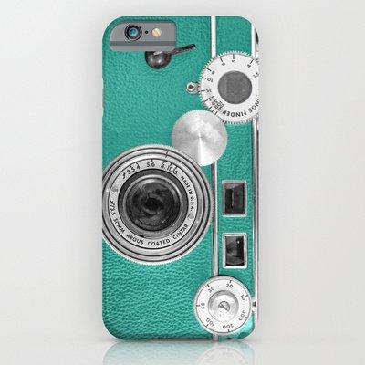 society6(ソサエティシックス) iPhone6 Plus(5.5インチ)ケースレトロなヴィンテージ電話 Teal retro vintage phone並行輸入品