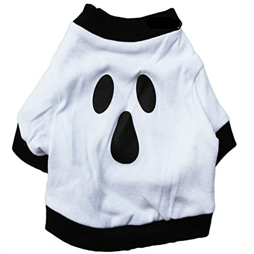 Gotd Pet Festival Costume for Small Dogs Ghost Pet Shirt (m, White) (Pet Costumes For Small Dogs)