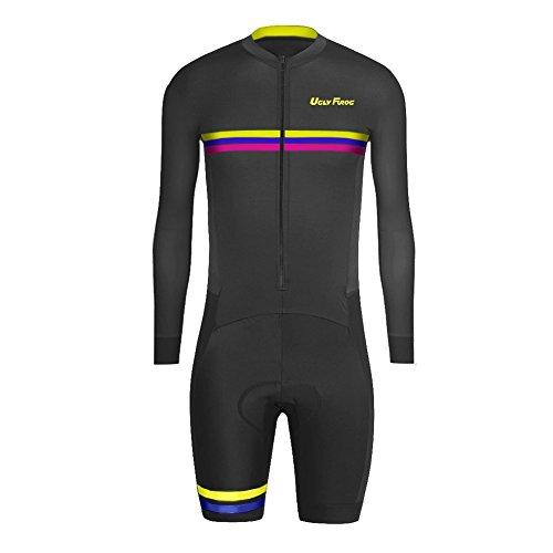 Uglyfrog SKL06 2016 Nuovi Uomini Traspirante Primavera Autunno A Maniche Lunghe Ciclismo Body Skinsuit All'aperto Sportswear Abbigliamento Triathlon