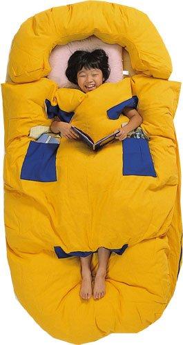 みのむしふとん ROO コットンタイプ (普通寸)布団がずれない!寝冷えしない!手も足も出せるフトン