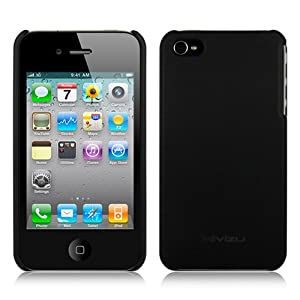 iPhone 4S Hard Rubber Case Accessory Cover Compatible with Apple iPhone 4 4G 4GS AT&T Verizon Sprint Bonus MiniSuit LCD Cleaner (Black )