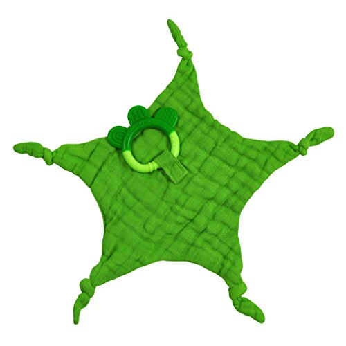 iplay Dream Window Organic Blankie Teether (Green-3mo+)