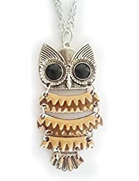 Trendy Long Chain Multi Color Small Owl Pendant Necklace For Girls And Women (Gift)