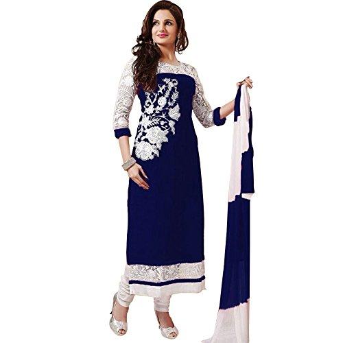 Shree-Ashapura-Creation-Womens-Georgette-Embroidered-Semi-stitched-Salwar-Suit-Dupatta-MaterialBlue