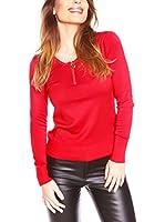 JUST SUCCES Camiseta Manga Larga Ninon (Rojo)
