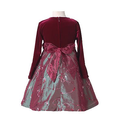 Bonnie Jean Burgundy Girls Christmas Dress