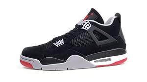 Air Jordan 4 Retro (Black/Cement Grey-Fire Red) Mens & GS (9)