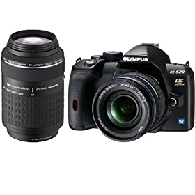 The Electronics World | Olympus Evolt E520 10MP Digital SLR Camera with 14-42mm f/3.5-5.6 and 70-300mm f/4.0-5.6 ED Zuiko Lenses