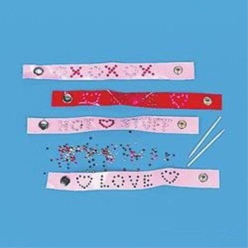 Valentine Jeweled Bracelet Craft Kit Case Pack 4 - 685705
