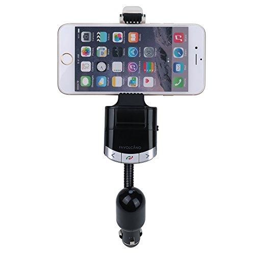 FAVOLCANO-Multifunktion-FM-Bluetooth-Transmitter-und-KFZ-Halterung-2-in-1-Wireless-Radio-Freisprecheinrichtung-USB-Auto-Handyhalterung-Ladegert-Universal-fr-iPhone-6-6-Plus-5-5S-4-4S-Samsung-S6-S5-S4-