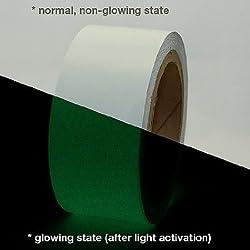 clickforsign Glow in the dark Safety tape 2 Inch X 10 Ft Night glow Vinyl
