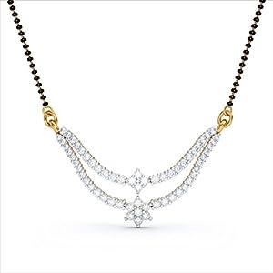 Certified 18K Yellow Gold 0.83 cttw White-Diamond (FG | VS) mangalsutra