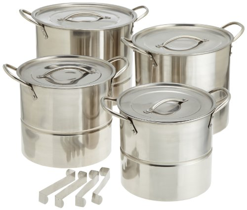 Star Crafts 16 Piece Stainless Steel Stock Pot and Steamer Set