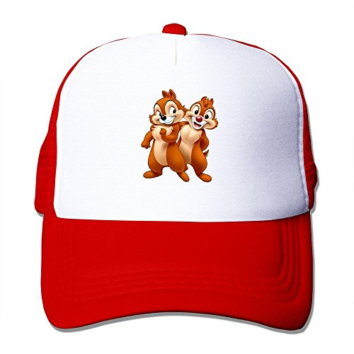 ysc-dier-fashion-chip-and-dale-adult-nylon-adjustable-sun-hat-red