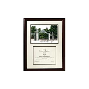 Cal Berkeley Golden Bears Mahogany Diploma Frame & Lithograph by Landmark Publishing