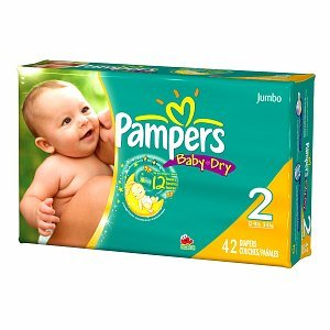 Pampers Baby Dry Pampers Baby Dry Diapers, Jumbo Pack, Size 2, 12-18 lbs, 42 ea 1 ct (Quantity of 3)