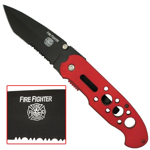 Whetstone™ Fire Fighter Pocket Knife (Red)