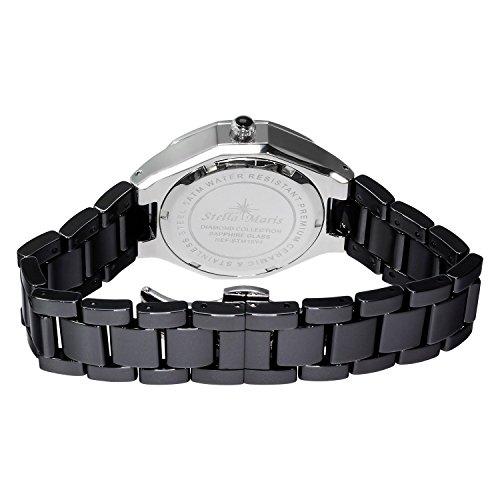 stella maris damen armbanduhr schwarz analog quarz premium keramik diamanten stm15y4 uhren. Black Bedroom Furniture Sets. Home Design Ideas