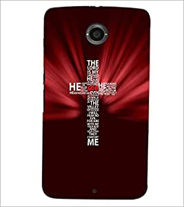 PrintDhaba Typographic Cross D-3057 Back Case Cover for MOTOROLA GOOGLE NEXUS 6 (Multi-Coloured)
