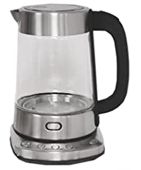 Nesco GWK-03D Electric Glass Water Kettle, 1.8 quart, Stainless Steel