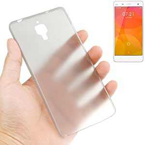 0.3mm Ultra Thin Polycarbonate Materials PC Protection Shell for Xiaomi MI4, Transparent Version / Matte Edition(Grey)