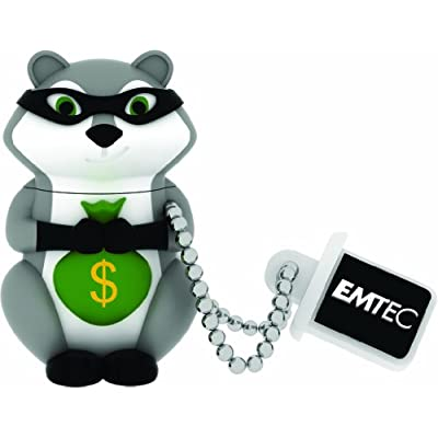 Emtec Forest USB 2.0 (8GB) Flash Drive (Raccoon)