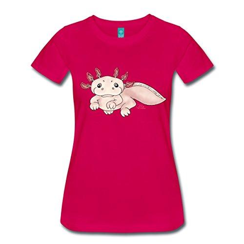 Spreadshirt Damen Axenia Axolotl T-Shirt, dunkles Pink, XL