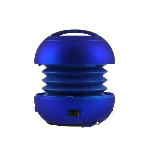 Bxt® Portable Rechargeable Super-Small Buddy-Jack Mode Ball Mini Speaker With Bass Resonator - For Moblie Phone, Pc, Ipod, Mp3/Mp4, Laptop, Psp, And Other Digital Devices With 3.5Mm Standard Audio Cables. (Blue)