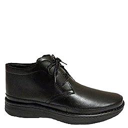 Drew Shoe Men\'s Keith Boots, Black Leather, 16 M