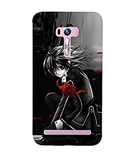 Animated Girl Wallpaper 3D Hard Polycarbonate Designer Back Case Cover for Asus Zenfone Selfie ZD551KL