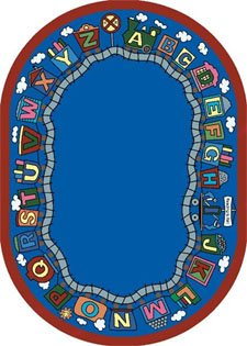 Reading Train Rug - 7.67 Foot x 10.75 Foot Rectangle