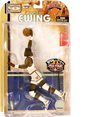McFarlane Toys NBA Sports Picks Legends Series 4 Action Figure Patrick Ewing (New York Knicks) White Jersey