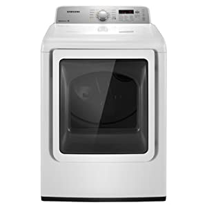 Samsung DV422GWHDWR 7.2 Cu. Ft. White Gas Front Load Dryer
