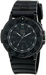 Luminox Men's 3001.BO Quartz Rubber Black Dial Watch
