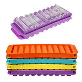 4 Ice Tube Making Trays for Water Bottles - 2pc Sets
