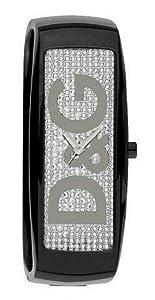 Dolce&Gabbana - DW0256 - Montre Femme - Quartz Analogique - Cadran Argent - Bracelet Polycarbonate Noir