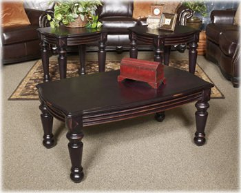 Cheap Black Rectangular End Table by Ashley Furniture (T542-3)