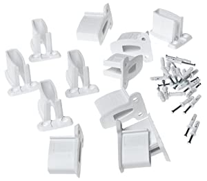 Amazon Com Closetmaid Wall Brackets White 12 Pack 1782
