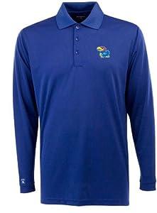 Kansas Long Sleeve Polo Shirt (Team Color) by Antigua