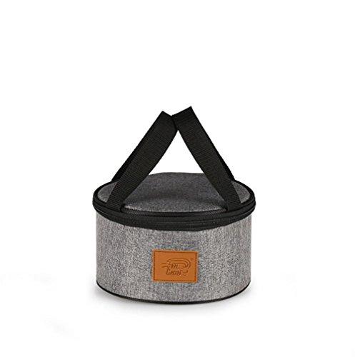 Portatile rotondo isolato borse pišŽ spessa Oxford panno impermeabile portatile pranzo scatola facile borsa borsetta