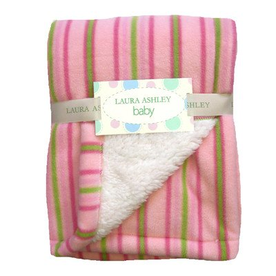 Stripe Crib Throw Color: Pink