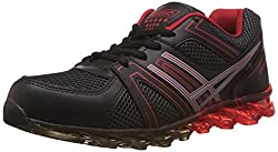 Steemo Men's Black and Red Running Shoes - 6 UK/India (40 EU)(STM1023)