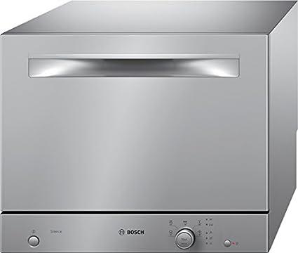 Bosch SKS51E28EU Mini 6places A+ Stainless steel lave-vaisselle - lave-vaisselles (Countertop, A, A+, Acier inoxydable)
